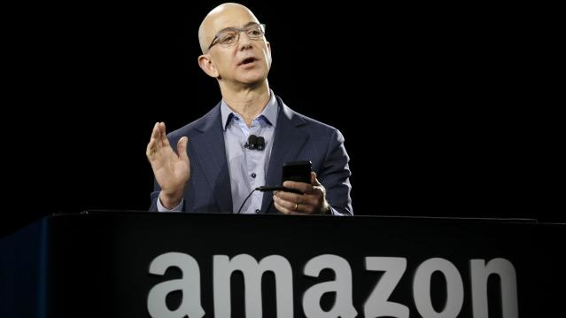 Amazon CEO Jeff Bezos. The tech giant will report earnings after the market close on Thursday, February 1. (Ted S. Warren/AP)