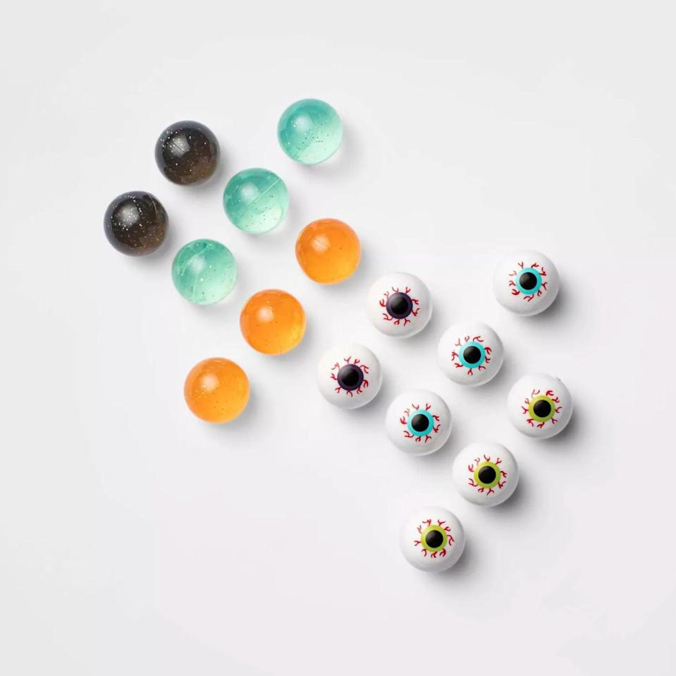 <p>We're obsessed with the <span>Hyde & EEK! Boutique 16-Count of Eyeball Bounce Balls</span> ($3) that come in various designs.</p>