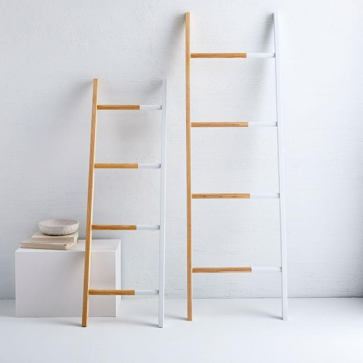 "<h3><a href=""https://www.westelm.com/products/lcl-solid-manufacturing-co-decorative-found-ladder-d5105/"" rel=""nofollow noopener"" target=""_blank"" data-ylk=""slk:Solid Manufacturing Co. Decorative Found Ladder"" class=""link rapid-noclick-resp"">Solid Manufacturing Co. Decorative Found Ladder </a></h3><br><strong>When you don't have space to spare for drying delicates: </strong>This leaning ladder rack is the vertical solution to hanging wet laundry without sacrificing the little floor surface area you have left.<br><br><strong>Solid Manufacturing Co.</strong> Decorative Found Ladder, $, available at <a href=""https://go.skimresources.com/?id=30283X879131&url=https%3A%2F%2Fwww.westelm.com%2Fproducts%2Flcl-solid-manufacturing-co-decorative-found-ladder-d5105%2F"" rel=""nofollow noopener"" target=""_blank"" data-ylk=""slk:West Elm"" class=""link rapid-noclick-resp"">West Elm</a>"