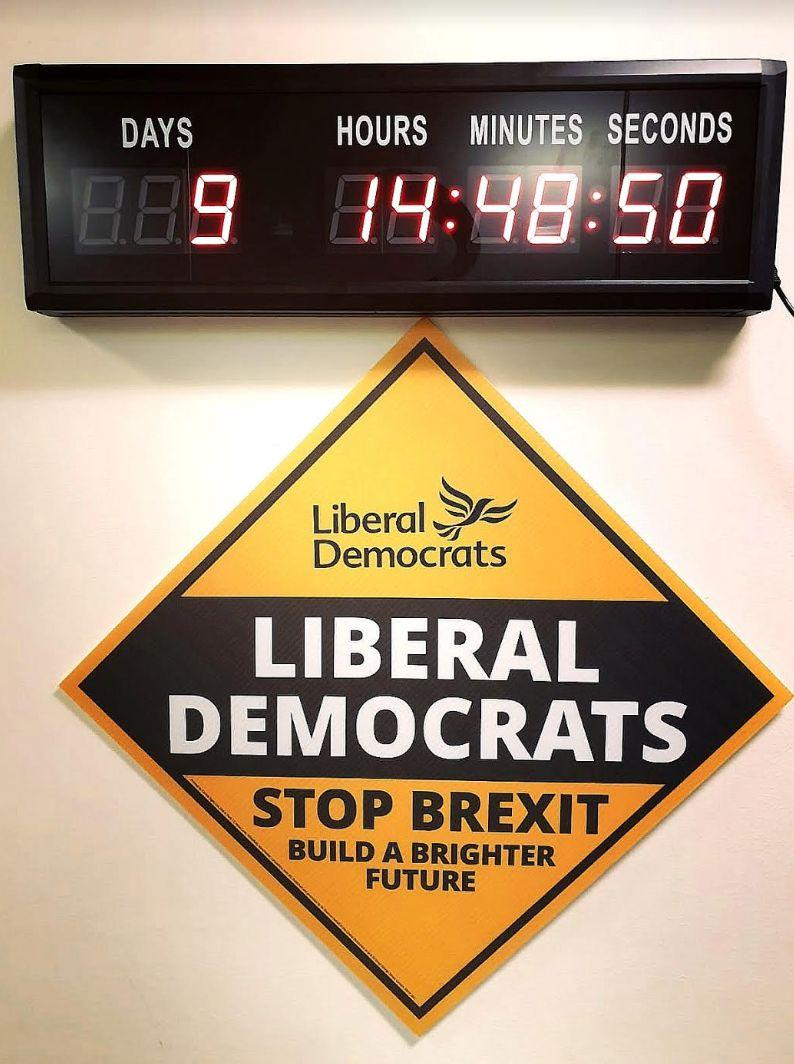 Lib Dem clock (Photo: HuffPost UK)
