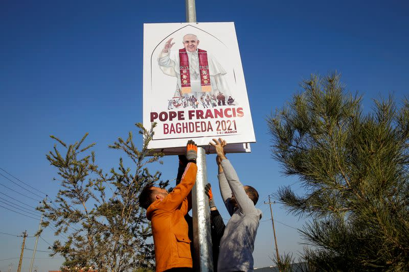 FILE PHOTO: Iraqi Christians throughout the country prepare for pope's visit