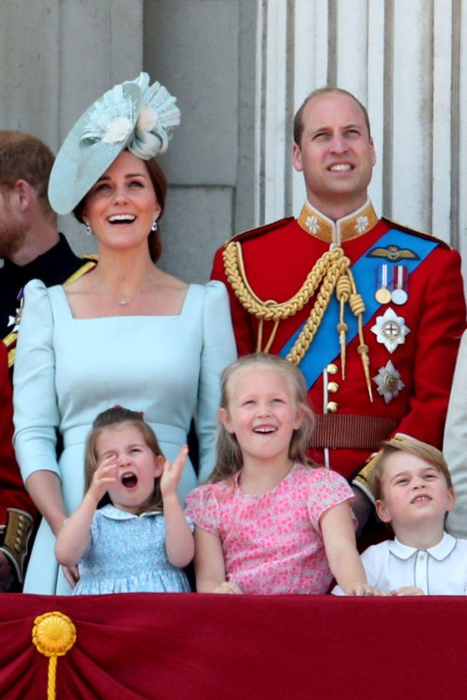 Kate Middleton, Prince William, Princess Charlotte, Savannah Phillips and Prince George | Yui Mok/PA Images via Getty Images