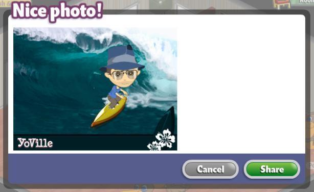 YoVille Surfing Photo Booth