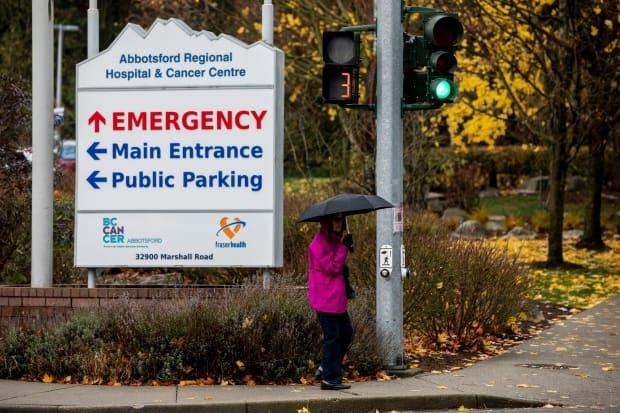 The Abbotsford Regional Hospital and Cancer Centre in Abbotsford, B.C., as seen on Nov. 25, 2020. New regional health restrictions were introduced Tuesday in the eastern Fraser Valley, which includes Abbotsford, as the area sees a surge in cases of COVID-19. (Ben Nelms/CBC - image credit)
