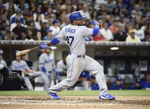 """<a class=""""link rapid-noclick-resp"""" href=""""/mlb/players/7746/"""" data-ylk=""""slk:Howie Kendrick"""">Howie Kendrick</a> is heading to Philadelphia. (Getty Images/Denis Poroy)"""