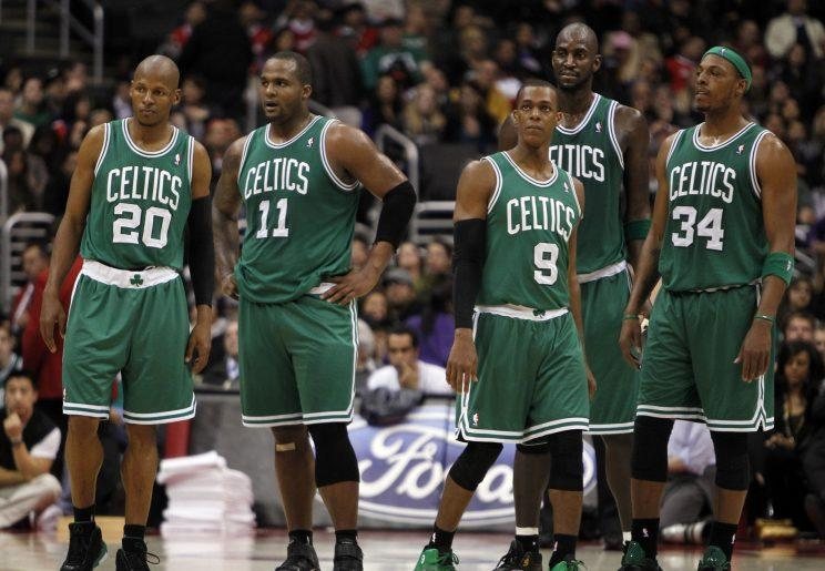 Nearly five years after his departure, Ray Allen's former Celtics teammates still have issues with the way he left Boston. (AP)