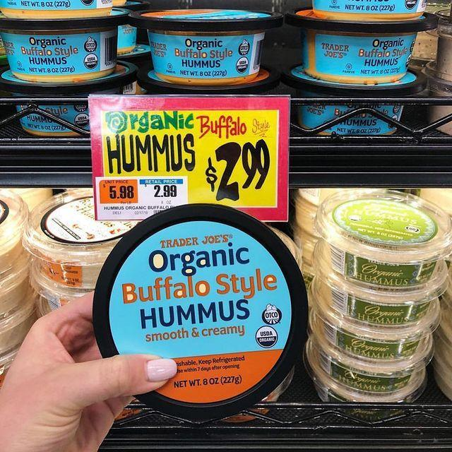 """<p>This new organic buffalo-style hummus seems like the ideal way to make snacking on veggies more fun. Dip in carrots, peppers, and cucumbers, or spread it on celery for an ants-on-a-log type snack.</p><p><a href=""""https://www.instagram.com/p/Buko786AHb5/"""" rel=""""nofollow noopener"""" target=""""_blank"""" data-ylk=""""slk:See the original post on Instagram"""" class=""""link rapid-noclick-resp"""">See the original post on Instagram</a></p>"""