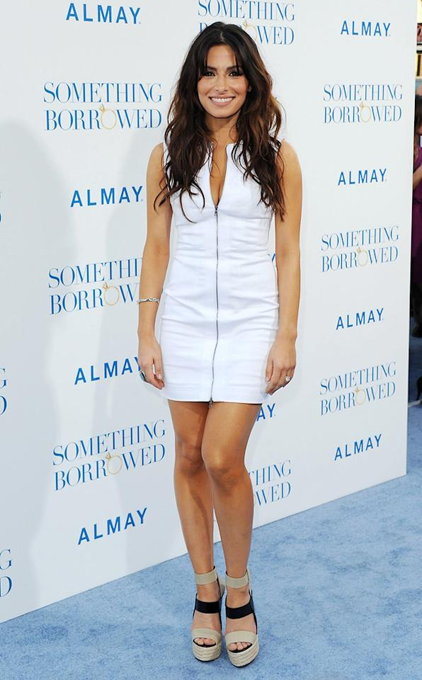 """<a href=""""http://movies.yahoo.com/movie/contributor/1804768278"""">Sarah Shahi</a> attends the Los Angeles premiere of <a href=""""http://movies.yahoo.com/movie/1810158033/info"""">Something Borrowed</a> on May 3, 2011."""
