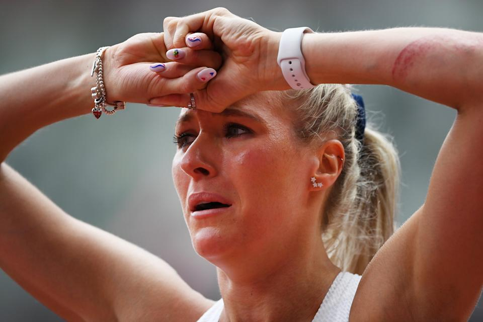 Jessie Knight was devastated after falling (Getty Images)