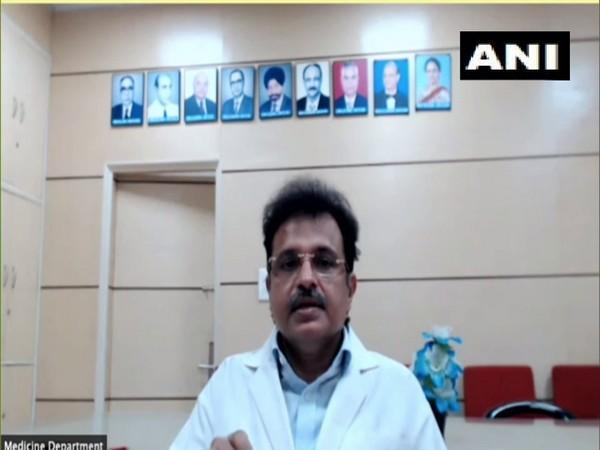Dr Naveet Wig, Head of the Medicine Department at AIIMS. (Photo/ ANI)