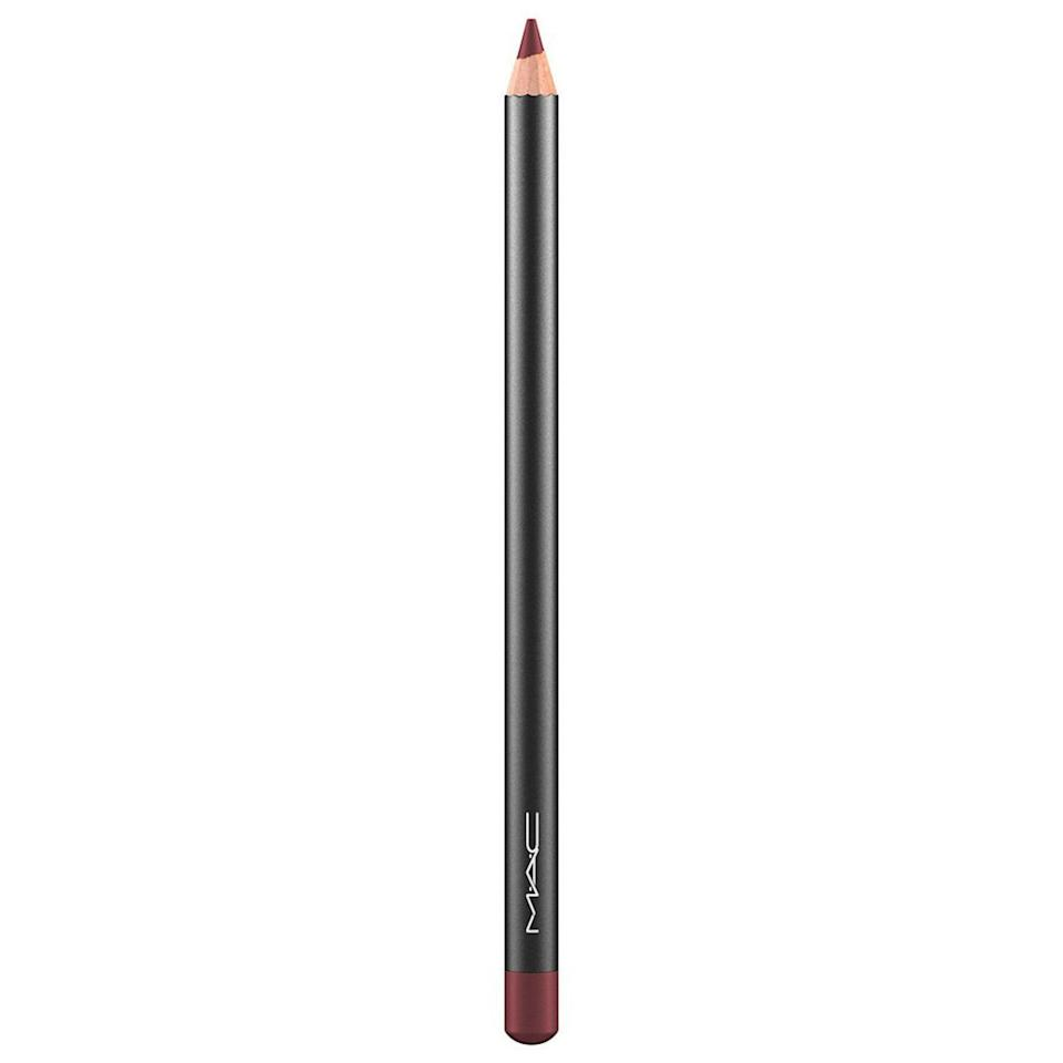 """<p>""""MAC's Lip Pencil in Burgundy is a great liner or allover color,"""" recommends Murphy. Try it out for a muted, dark take on a traditional red lip.</p> <p><strong>$18 (</strong><a href=""""https://shop-links.co/1662825778506432487"""" rel=""""nofollow noopener"""" target=""""_blank"""" data-ylk=""""slk:Shop Now"""" class=""""link rapid-noclick-resp""""><strong>Shop Now</strong></a><strong>)</strong></p>"""