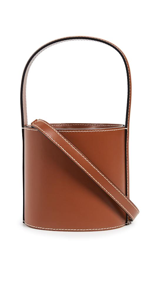 """<p><a href=""""https://www.popsugar.com/buy/Staud-Mini-Bissett-Bag-477643?p_name=Staud%20Mini%20Bissett%20Bag&retailer=shopbop.com&pid=477643&price=295&evar1=fab%3Aus&evar9=46477127&evar98=https%3A%2F%2Fwww.popsugar.com%2Fphoto-gallery%2F46477127%2Fimage%2F46478226%2FStaud-Mini-Bissett-Bag&list1=shopping%2Cdresses%2Cstyling%20tips%2Coutfits%2Coutfit%20ideas%2Caffordable%20shopping&prop13=api&pdata=1"""" rel=""""nofollow"""" data-shoppable-link=""""1"""" target=""""_blank"""" class=""""ga-track"""" data-ga-category=""""Related"""" data-ga-label=""""https://www.shopbop.com/mini-bissett-bag-staud/vp/v=1/1571376358.htm?folderID=53407&amp;fm=other-shopbysize-viewall&amp;os=false&amp;colorId=11841"""" data-ga-action=""""In-Line Links"""">Staud Mini Bissett Bag</a> ($295)</p>"""