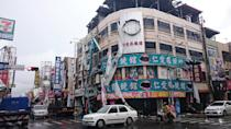 <p>Damaged advertisement banners are seen after strong winds and rain from Typhoon Nepartak hit Taitung, Taiwan July 8, 2016. (REUTERS/Stringer) </p>