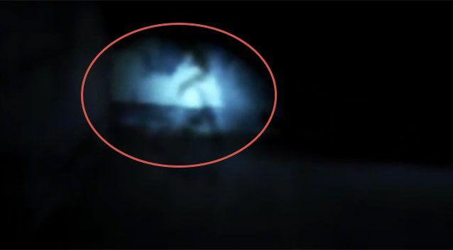 A figure seems to appear in the original clip. Source: YouTube/ Gora Coti