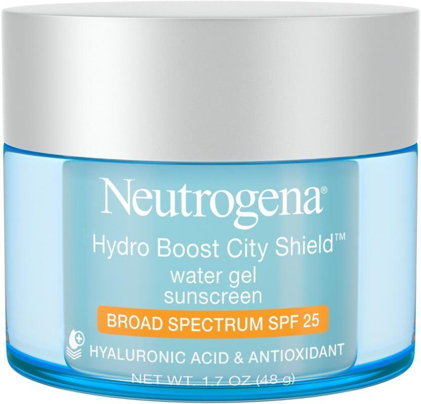 <p><span>Neutrogena Hydro Boost City Shield Water Gel With Broad Spectrum SPF 25</span> ($24) wears comfortably while giving your skin a surge of moisture. (You have the hyaluronic acid to thank for that).</p>