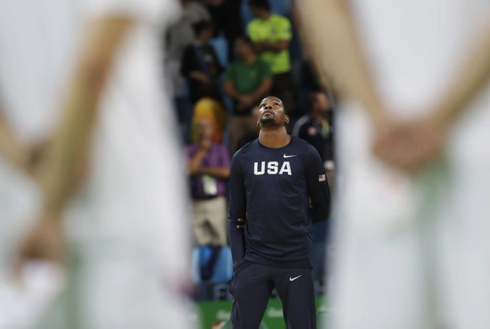 Kevin Durant knows what winning looks like for the USA. (AP)