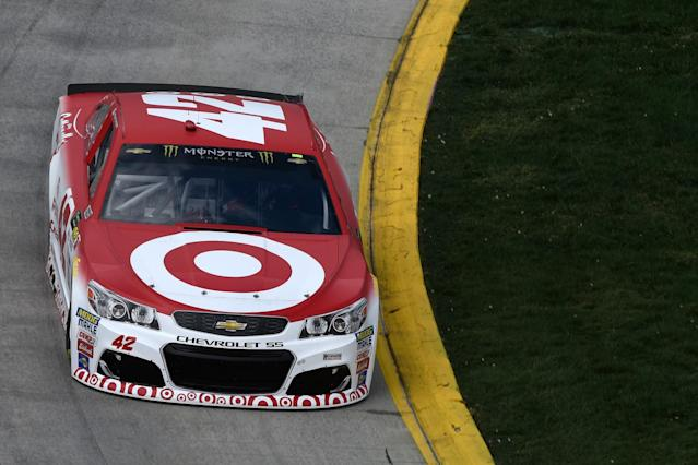 """<a class=""""link rapid-noclick-resp"""" href=""""/nascar/sprint/drivers/3156/"""" data-ylk=""""slk:Kyle Larson"""">Kyle Larson</a> will start first for the second-straight week. (Getty)"""