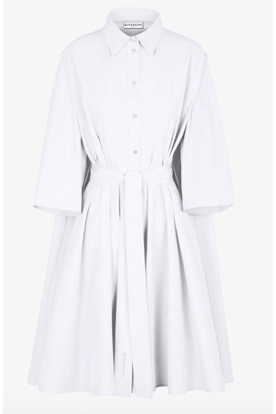 "<p><strong>Givenchy</strong></p><p>givenchy.com</p><p><strong>$1390.00</strong></p><p><a href=""https://www.givenchy.com/us/en-US/belted-shirt-dress-in-popeline/3665963470726.html?gclid=Cj0KCQiA0fr_BRDaARIsAABw4EvIuCoAuy5z0UJPR0tBqhems7VCeRwHRVbMDXBWx_HZOapNm_eAFE0aApBUEALw_wcB"" rel=""nofollow noopener"" target=""_blank"" data-ylk=""slk:Shop Now"" class=""link rapid-noclick-resp"">Shop Now</a></p><p>Known for its fit and classic cut, the Givenchy dress will be a staple in your wardrobe for years to come.</p>"