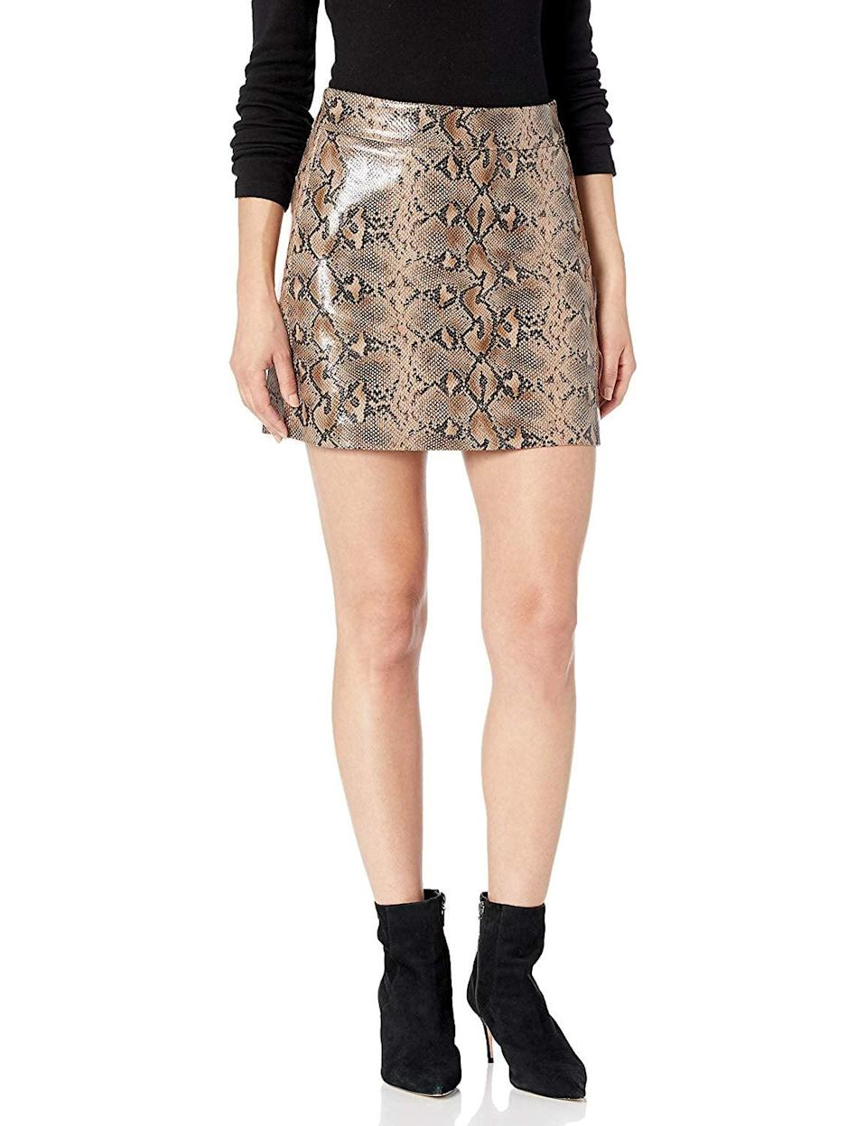 """<p>You'll be surprised by how often you end up wearing this cute <a href=""""https://www.popsugar.com/buy/BlankNYC-Vegan-Leather-Miniskirt-506609?p_name=BlankNYC%20Vegan%20Leather%20Miniskirt&retailer=amazon.com&pid=506609&price=82&evar1=fab%3Aus&evar9=46804763&evar98=https%3A%2F%2Fwww.popsugar.com%2Ffashion%2Fphoto-gallery%2F46804763%2Fimage%2F46804773%2FVegan-Leather-Skirt&list1=shopping%2Cfall%20fashion%2Camazon%2Cfall&prop13=mobile&pdata=1"""" class=""""link rapid-noclick-resp"""" rel=""""nofollow noopener"""" target=""""_blank"""" data-ylk=""""slk:BlankNYC Vegan Leather Miniskirt"""">BlankNYC Vegan Leather Miniskirt</a> ($82). But you shouldn't be, because it's sexy, versatile, and so cool.</p>"""