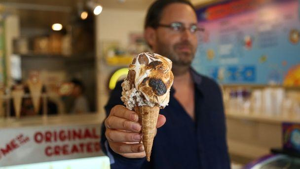 PHOTO: An ice cream cone from Emack and Bolio's featuring a roasted marshmallow topping is pictured here. (ABC News)