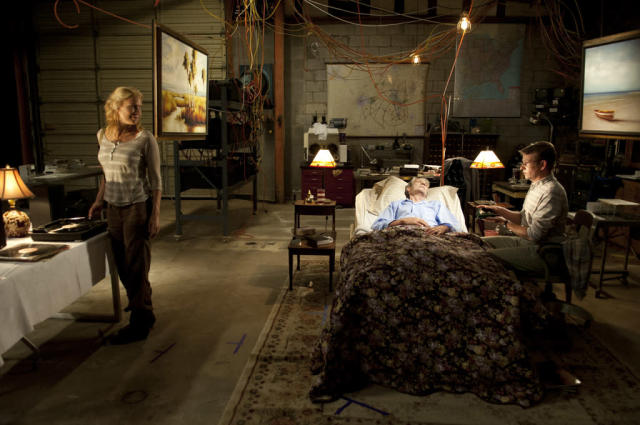 "Andrea (Laurie Holden) and Milton (Dallas Roberts) in ""The Walking Dead"" episode, ""When the Dead Come Knocking."""