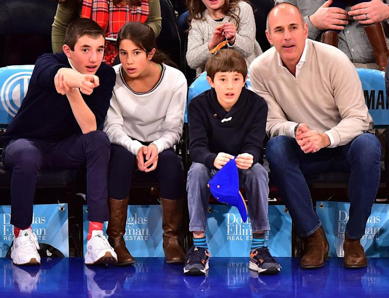 From left: Jack Lauer, Romy Lauer, Thijs Lauer and Matt Lauer on Jan. 18, 2016