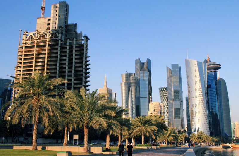 FILE PHOTO: A general view of the Corniche Towers is seen in Doha