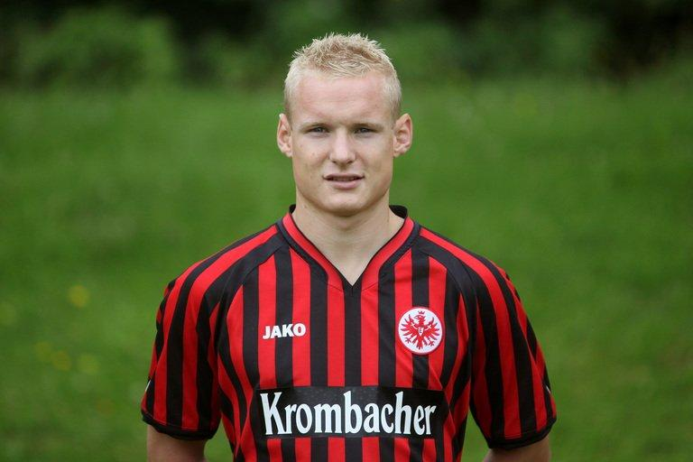 Sebastian Rode of Eintracht Frankfurt poses during an official photo shoot in Frankfurt, on July 19, 2012