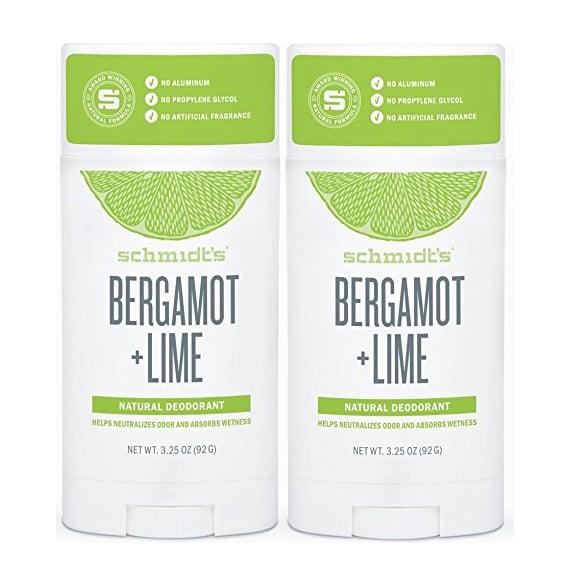 "<p><a href=""https://www.popsugar.com/buy/Schmidt-Bergamot-Lime-Natural-Deodorant-555925?p_name=Schmidt%27s%20Bergamot%20%2B%20Lime%20Natural%20Deodorant&retailer=amazon.com&pid=555925&price=18&evar1=fit%3Auk&evar9=47252089&evar98=https%3A%2F%2Fwww.popsugar.com%2Ffitness%2Fphoto-gallery%2F47252089%2Fimage%2F47252125%2FSchmidt-Bergamot-Lime-Natural-Deodorant&list1=deodorant%2Chealthy%20living%2Cnatural%20deodorant&prop13=api&pdata=1"" rel=""nofollow"" data-shoppable-link=""1"" target=""_blank"" class=""ga-track"" data-ga-category=""Related"" data-ga-label=""https://www.amazon.com/Pack-Schmidts-Natural-Deodorant-Stick/dp/B077LMQX5Z"" data-ga-action=""In-Line Links"">Schmidt's Bergamot + Lime Natural Deodorant</a> ($18 for two) was my first foray into aluminum-free deodorant, and I adored it for the first few months. It was Summer in Arizona, and this deodorant can take the heat. But eventually, it was my skin (instead of my nose) that <a href=""https://www.popsugar.com/fitness/Natural-Deodorant-Rash-43984119"" class=""ga-track"" data-ga-category=""Related"" data-ga-label=""https://www.popsugar.com/fitness/Natural-Deodorant-Rash-43984119"" data-ga-action=""In-Line Links"">became sensitive</a> to this one, and I had to move one.</p> <p><strong>Overall rating:</strong> <meta itemprop=""rating"" content=""3.5""> </p><div class=""review-rating"" data-review-rating=""3.5""> <i class=""star-on""></i><i class=""star-on""></i><i class=""star-on""></i><i class=""star-half""></i><i class=""star-off""></i><br></div>"