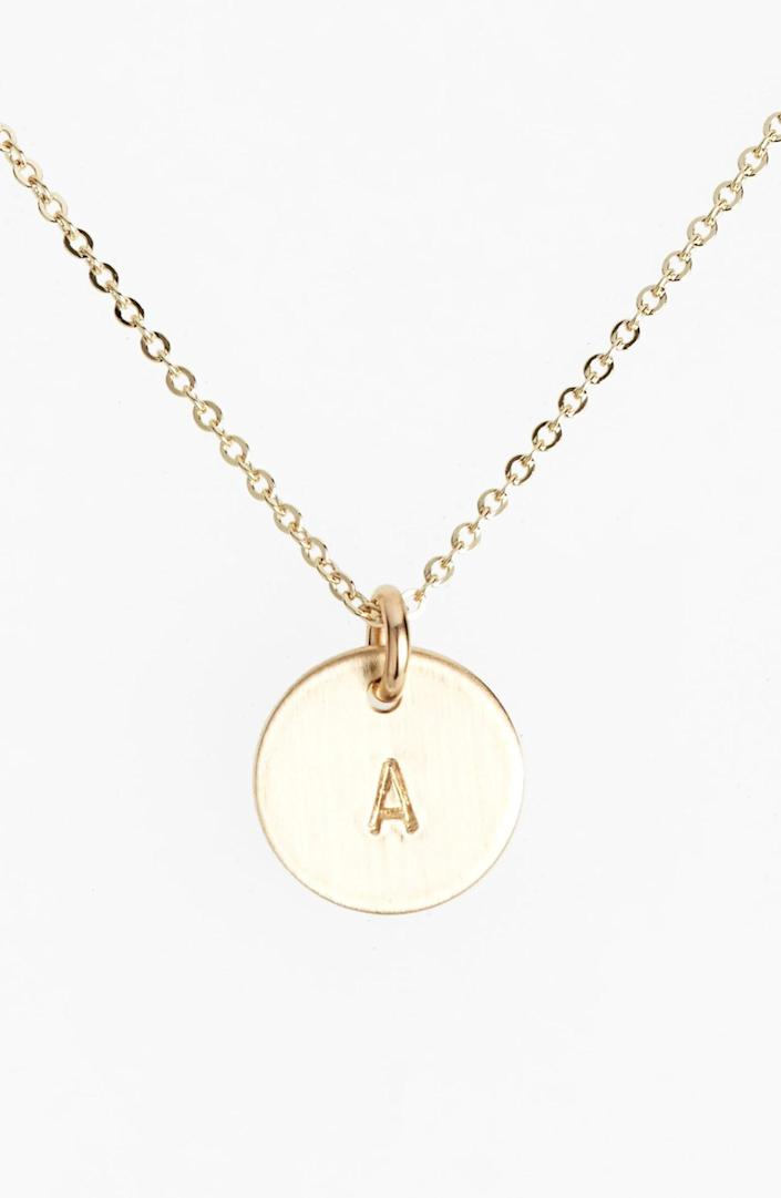 """<p><strong>Nashelle</strong></p><p>nordstrom.com</p><p><strong>$60.00</strong></p><p><a href=""""https://go.redirectingat.com?id=74968X1596630&url=https%3A%2F%2Fshop.nordstrom.com%2Fs%2F3916904&sref=https%3A%2F%2Fwww.townandcountrymag.com%2Fstyle%2Fbeauty-products%2Fg19408606%2Fgift-ideas-for-women%2F"""" rel=""""nofollow noopener"""" target=""""_blank"""" data-ylk=""""slk:Shop Now"""" class=""""link rapid-noclick-resp"""">Shop Now</a></p><p>Jewelry with a personal touch. Enough said. </p>"""