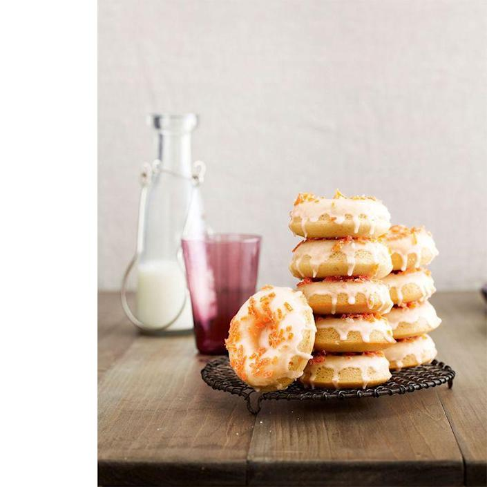 """<p>If your dad likes to try new things, these zesty grapefruit doughnuts are the perfect brunch recipe to try.<br></p><p><em><a href=""""https://www.womansday.com/food-recipes/food-drinks/recipes/a39827/grapefruit-buttermilk-doughnuts-candied-zest-recipe-clv0214/"""" rel=""""nofollow noopener"""" target=""""_blank"""" data-ylk=""""slk:Get the Grapefruit Buttermilk Doughnuts with Candied Zest recipe."""" class=""""link rapid-noclick-resp"""">Get the Grapefruit Buttermilk Doughnuts with Candied Zest recipe.</a></em></p>"""