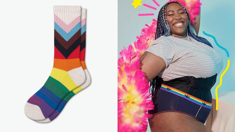 For every pair you purchase, Bombas will donate a pair to those in need through select LGBTQ organizations.