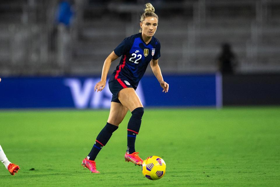 <p><strong>Position:</strong> midfielder</p> <p><strong>Hometown:</strong> Hanson, MA</p> <p><strong>Club:</strong> Houston Dash</p> <p>Mewis is the only player on the Olympic roster who wasn't part of the World Cup championship squad in 2019. She'll be making her Olympic debut alongside her sister, Sam. </p>