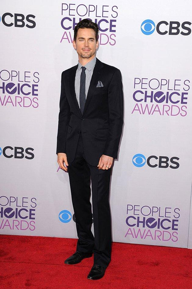 "BEST: Matt Bomer.  No plain ""White Collar"" for the People's Choice Awards! The ""Magic Mike"" star amps up the style factor with a checkered shirt and color-coordinated pocket square."