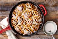 "<p><strong>Recipe: </strong><a href=""https://www.southernliving.com/recipes/apple-butter-cinnamon-rolls-apple-cider-glaze"" rel=""nofollow noopener"" target=""_blank"" data-ylk=""slk:Apple Butter Cinnamon Rolls with Apple Cider Glaze"" class=""link rapid-noclick-resp""><strong>Apple Butter Cinnamon Rolls with Apple Cider Glaze</strong></a></p> <p>Is there anything better to wake up to than the aroma of cinnamon rolls? We didn't think so until our Test Kitchen came up with this recipe that combines classic cinnamon rolls with the flavors of fall.</p>"