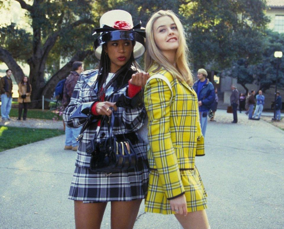 """<p>Roll on down to the nearest party with your '90s loving homie dressed as the two fashion icons known as Cher and Dionne. Even if you're not a spoiled, rich Valley girl, you'll be able to nail this look and feel super cute while doing it.</p><strong>What You'll Need:</strong> <a href=""""https://www.halloweencostumes.com/clueless-cher-costume.html?mpid=187866&gclid=Cj0KCQjw9b_4BRCMARIsADMUIyqLgJZKFD74G6_1yYvVD0vitu77mwLyWF9-iQWcM_ECCo1G_NHnBm0aAmRvEALw_wcB"""" rel=""""nofollow noopener"""" target=""""_blank"""" data-ylk=""""slk:Cher costume"""" class=""""link rapid-noclick-resp"""">Cher costume</a> ($60, Halloween Costumes) and <a href=""""https://www.halloweencostumes.com/clueless-dee-costume.html"""" rel=""""nofollow noopener"""" target=""""_blank"""" data-ylk=""""slk:Dionne costume"""" class=""""link rapid-noclick-resp"""">Dionne costume</a> ($60, Halloween Costumes)"""