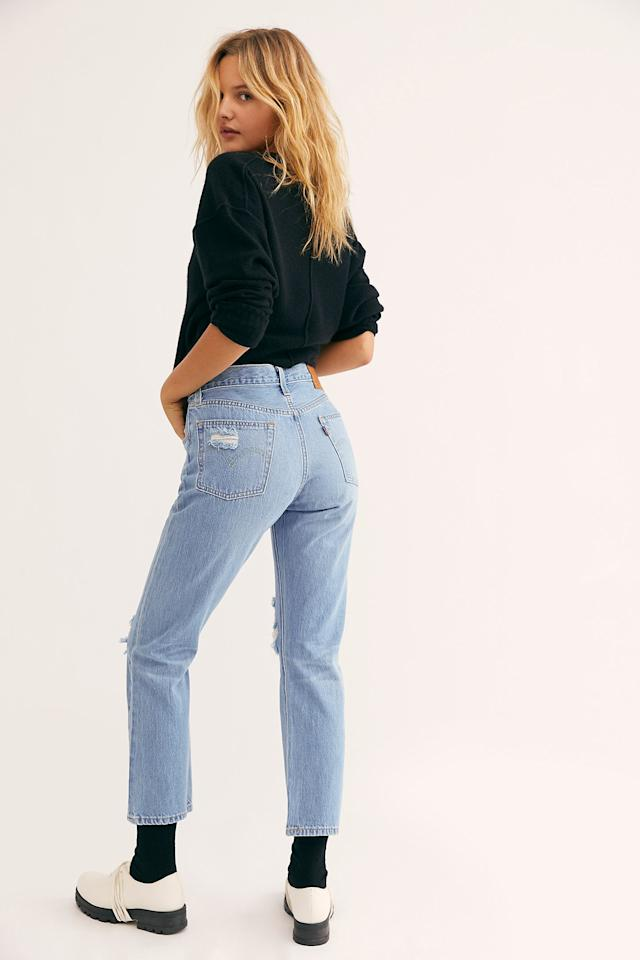 """<p>These classic <a href=""""https://www.popsugar.com/buy/Levi-501-Crop-Jeans-486115?p_name=Levi%27s%20501%20Crop%20Jeans&retailer=freepeople.com&pid=486115&price=98&evar1=fab%3Aus&evar9=45867382&evar98=https%3A%2F%2Fwww.popsugar.com%2Ffashion%2Fphoto-gallery%2F45867382%2Fimage%2F46564006%2FLevi-501-Crop-Jeans&list1=shopping%2Cdenim%2Cjeans%2Cspring%2Cspring%20fashion&prop13=mobile&pdata=1"""" rel=""""nofollow"""" data-shoppable-link=""""1"""" target=""""_blank"""" class=""""ga-track"""" data-ga-category=""""Related"""" data-ga-label=""""https://www.freepeople.com/shop/levis-501-crop-jeans4/?category=SEARCHRESULTS&amp;color=048&amp;quantity=1&amp;type=REGULAR"""" data-ga-action=""""In-Line Links"""">Levi's 501 Crop Jeans</a> ($98) will always be in style.</p>"""