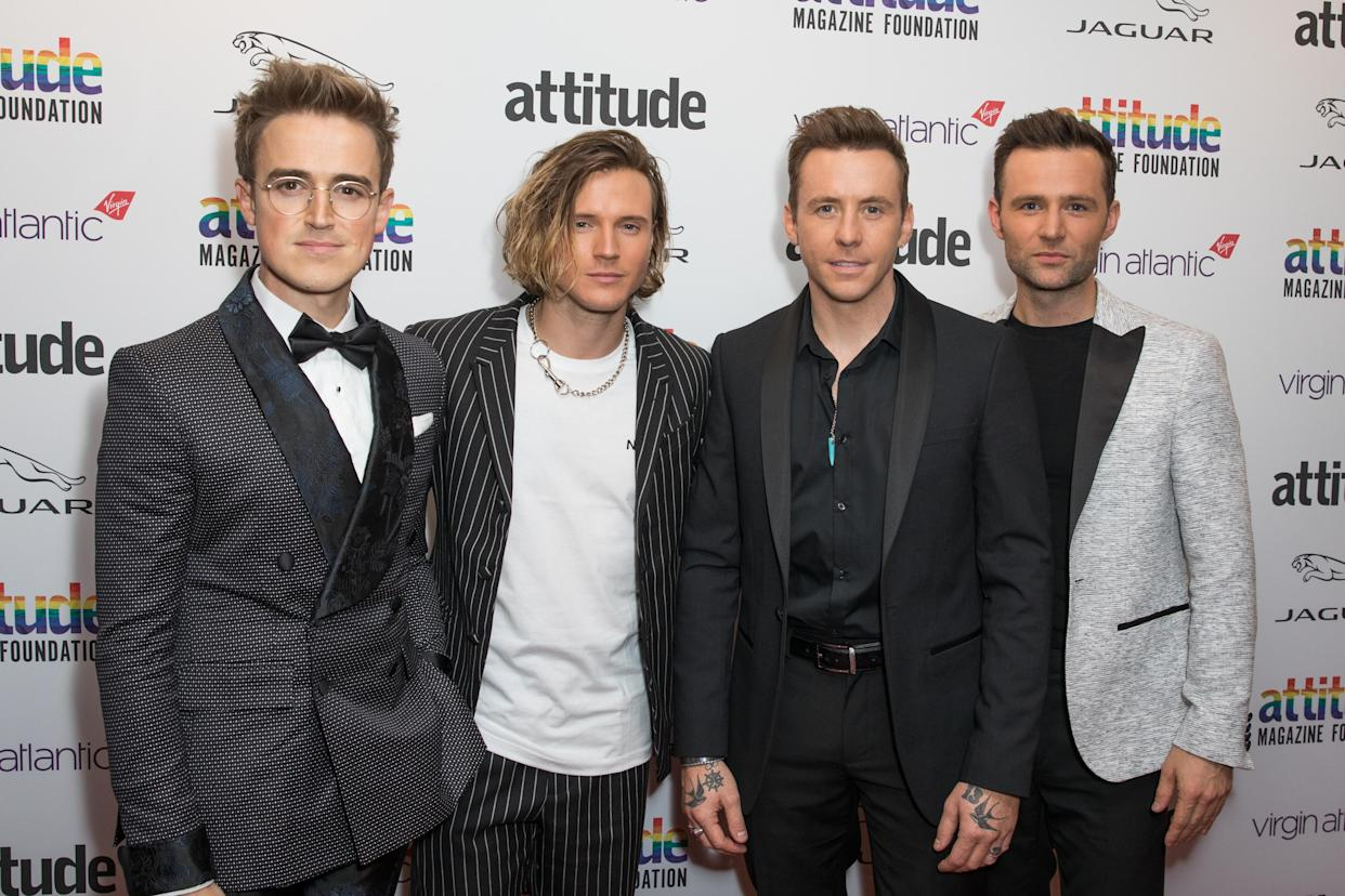 McFly had to get their wallets out when their paintball fight caused damage to the home where they were living. (Phil Lewis/SOPA Images/LightRocket via Getty Images)