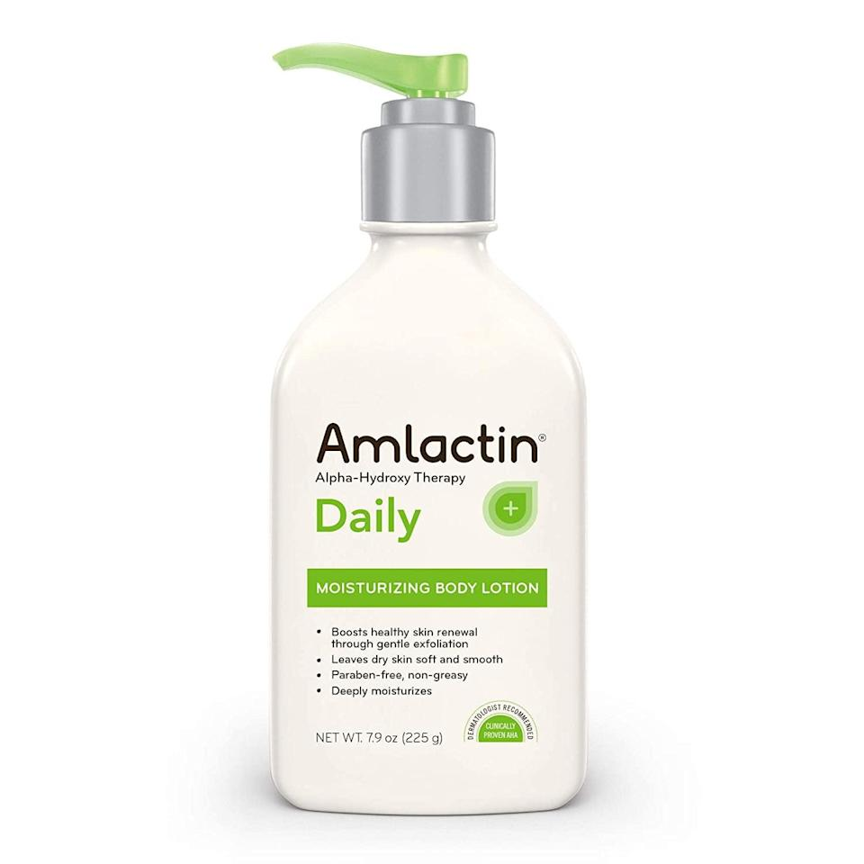 <p>This <span>AmLactin Daily Moisturizing Body Lotion</span> ($13) is made with lactic acid which very gently exfoliates skin to get rid of dead cells. You'll notice healthier-looking skin in just days after using it.</p>