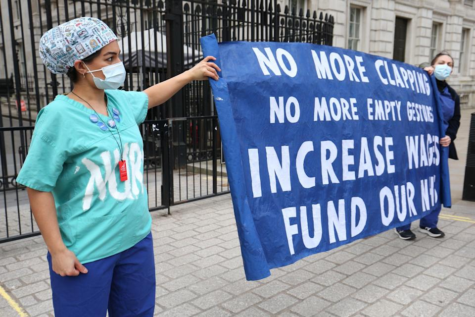 The GMB is campaigning for a 15% increase (Jonathan Brady/PA) (PA Wire)