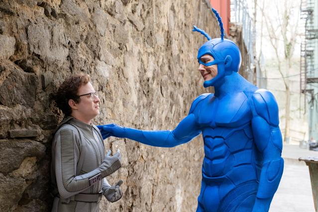 "Griffin Newman and Peter Serafinowicz in ""The Tick."" (Photo: Amazon)"