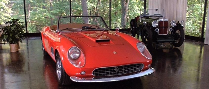 """1961 FERRARI 250 GT CALIFORNIA  Modified/Destroyed by: Cameron Frye  As Seen In: <a href=""""http://movies.yahoo.com/movie/1800064675/info"""">Ferris Bueller's Day Off</a>  Key Technical Specs: 240 horsepower V12 Engine; plays the <a href=""""http://movies.yahoo.com/movie/1800121659/info"""">Star Wars</a> theme.   Looking to get the attention of an emotionally distant parent? Slamming one of these through the glass wall of an elevated garage might just do the trick. Since only 45 of these babies were ever made, the going price is in the neighborhood of $2.5 million. So unless you're looking to get throttled or disowned, find another set of wheels for your """"sick day"""" joyride.   Available Options: Deluxe edition has odometer that actually will run backwards."""