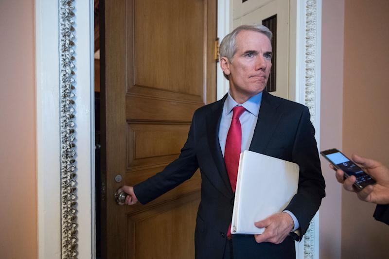 Sen. Rob Portman, R-Ohio, is pictured on Capitol Hill June 20, 2017.