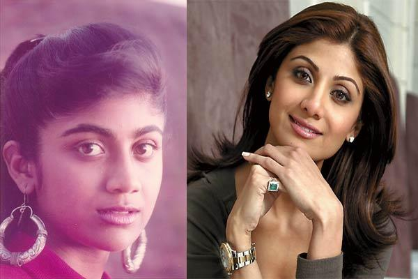 <b>1. Shilpa Shetty<br><br>Shilpa shetty has reportedly has had, not one but two nose jobs done. And we all know that Shilpa Shetty was never so breathtakingly beautiful. Cosmetic surgery changed the course of her looks and, of course, her then sinking career.<br></b>