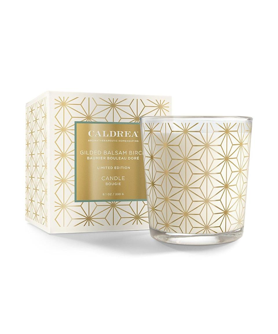 """<strong>-Paid-</strong><br><br><h3>Gilded Balsam Birch Candle<br></h3><br>Self-care is the <em>best</em> care, especially when it's low maintenance. This season, give yourself the gift of warm aromatics. Made with vegetable wax, beeswax, and essential oils, this <a href=""""https://www.caldrea.com/gildedbalsambirch-candle/?utm_source=Refinery29&utm_medium=display&utm_campaign=Caldrea-2021-Campaign&utm_term=GiftGuide&utm_content=GiftGuide"""" rel=""""nofollow noopener"""" target=""""_blank"""" data-ylk=""""slk:Caldrea"""" class=""""link rapid-noclick-resp"""">Caldrea</a> candle emanates wintery, birch scents to help you unwind at home. Plus, it's a plenty chic decor accent, even when it's <em>not</em> lit. <br><br><strong>Caldrea</strong> Gilded Balsam Birch Candle, $, available at <a href=""""https://go.skimresources.com/?id=30283X879131&url=https%3A%2F%2Fwww.caldrea.com%2Fgildedbalsambirch-candle%2F"""" rel=""""nofollow noopener"""" target=""""_blank"""" data-ylk=""""slk:Amazon, Caldrea"""" class=""""link rapid-noclick-resp"""">Amazon, Caldrea</a>"""