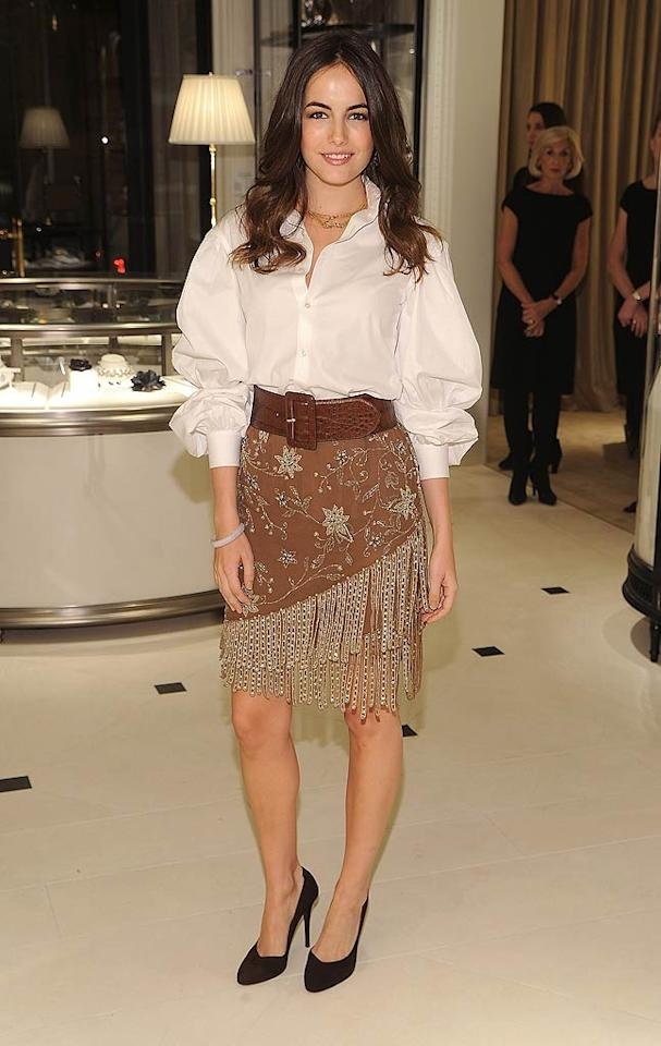 "Camilla Belle is right; western wear is in vogue these days. Unfortunately, fringe-adorned skirts and pirate-like tops are always wrong. Dimitrios Kambouris/<a href=""http://www.wireimage.com"" target=""new"">WireImage.com</a> - November 4, 2010"