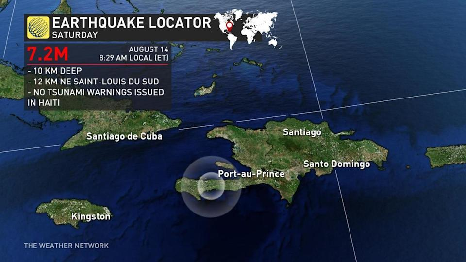 Widespread damage, deaths reported after M7.2 earthquake strikes Haiti
