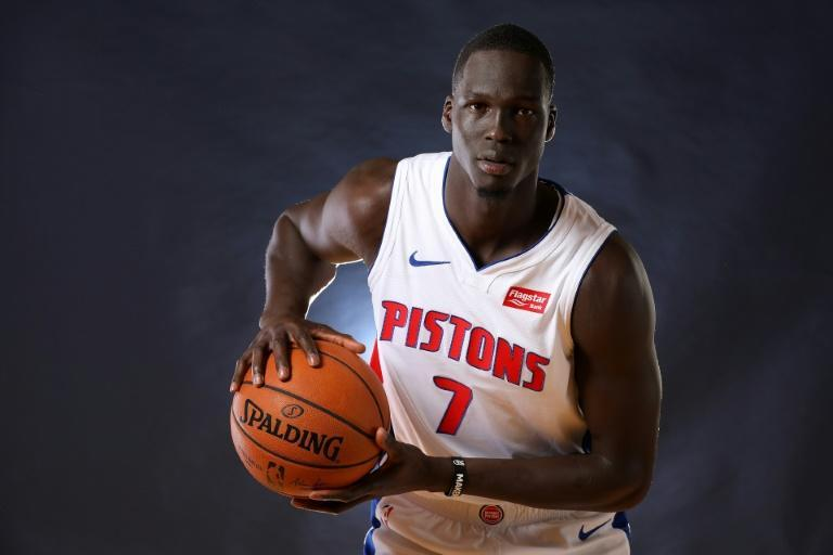 Detroit Pistons forward Thon Maker could be welcoming a cousin into the NBA, with Kenyan-born Australian Makur Maker reportedly making himself available for the 2020 NBA Draft (AFP Photo/Gregory Shamus)