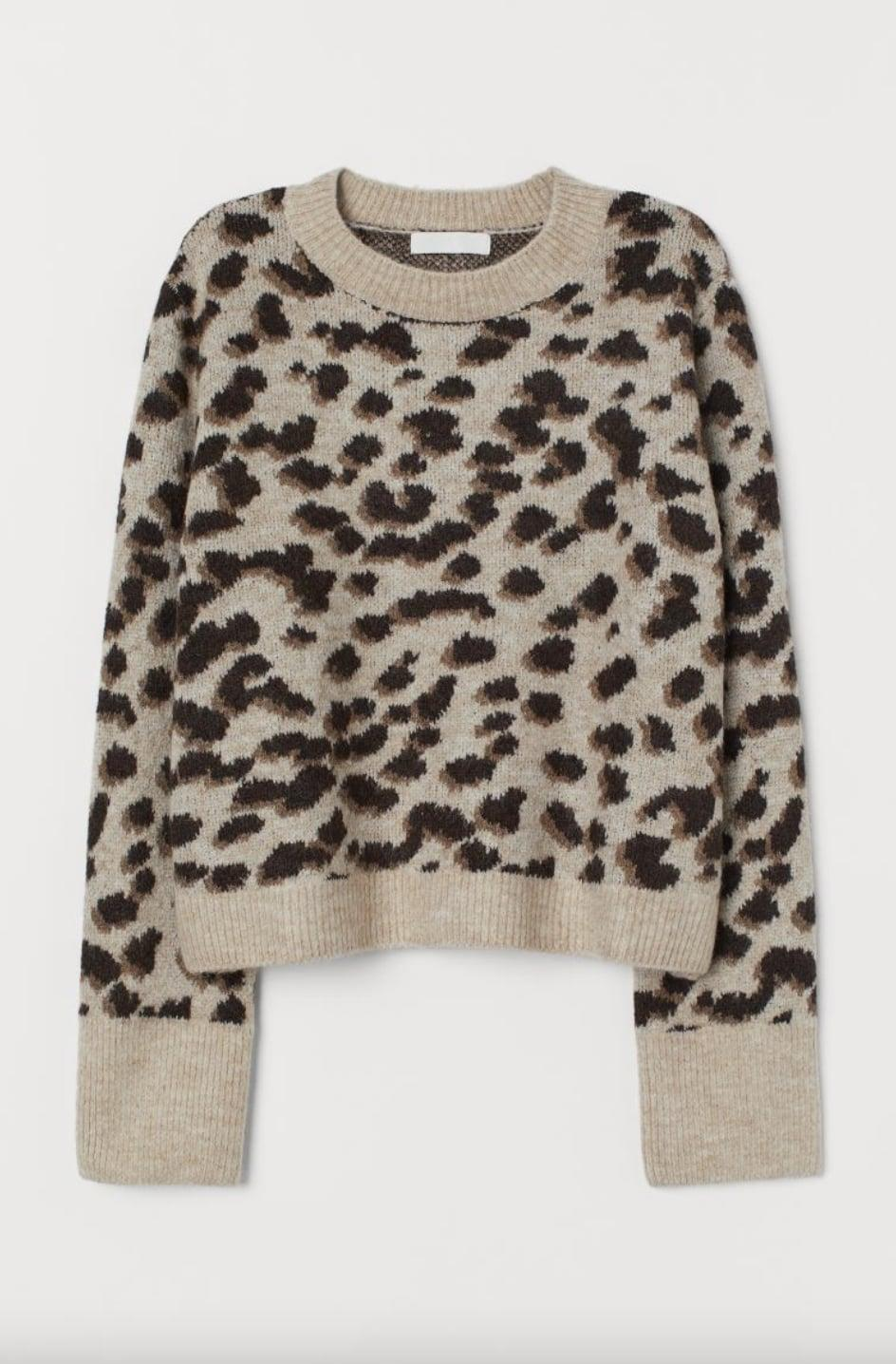 <p>Love leopard print? Then this <span>H&amp;M Jacquard-Knit Sweater</span> ($14, originally $30) is for you.</p>