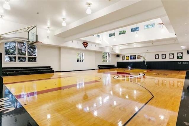 The Miami Heat logo at halfcourt is an interesting choice. (Photo from Redfin)